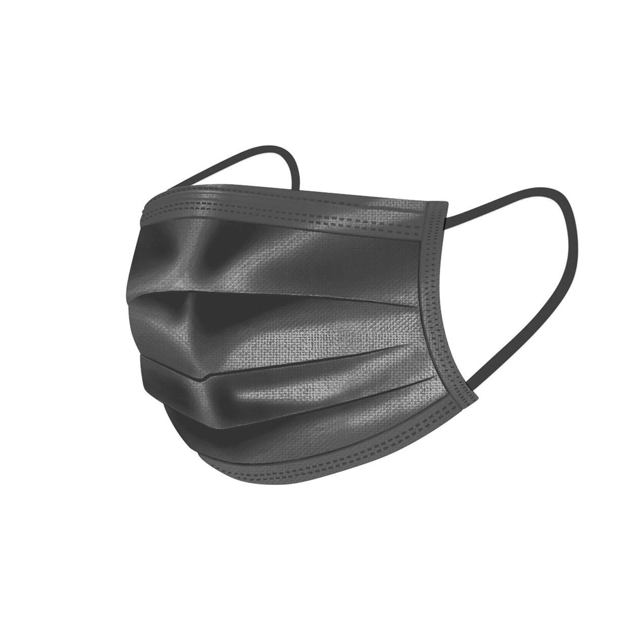 čierne ochranné rúška na tvár 50ks 3-vrstvové medicorp.sk