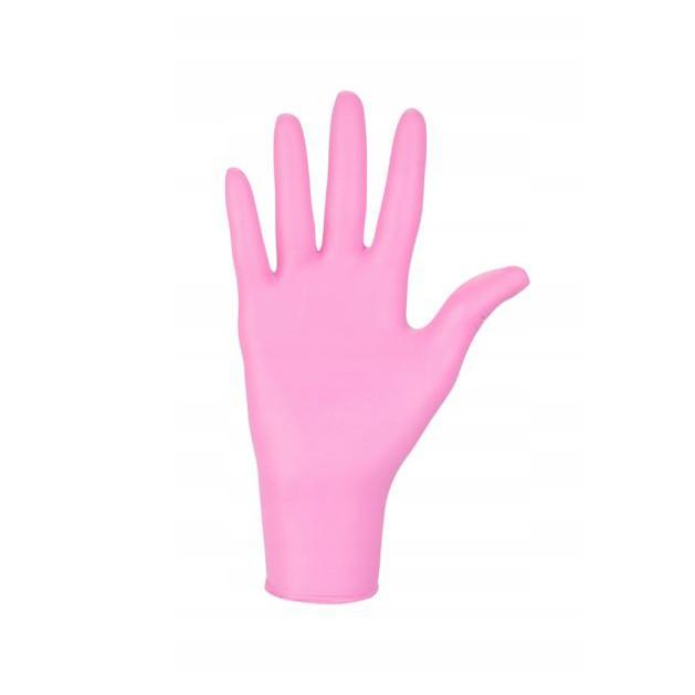 nitrilové rukavice 100ks veľkosť M ružové bezpúdrové medicorp.sk