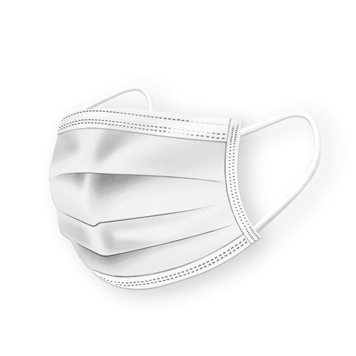 ochranné rúška na tvár biele 50ks 3-vrstvové maska MDV-4420 typ II medicorp.sk